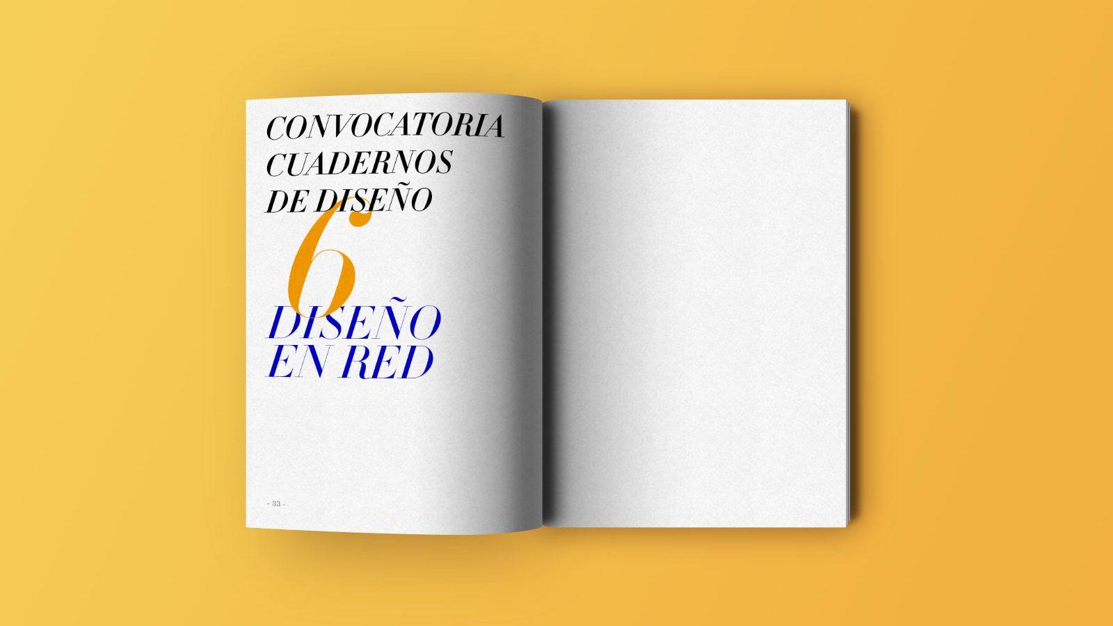 Convocatoria para los cuadernos de dise o 6 dise o en red for Diseno de interiores ied madrid
